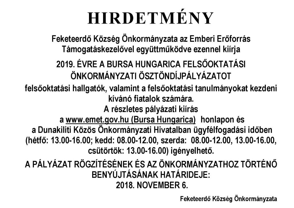 Bursa Hungarica FE